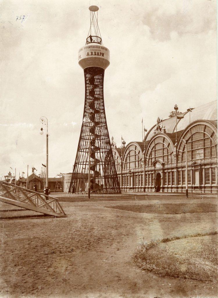Гиперболоидная башня Шухова в Нижнем Новгороде