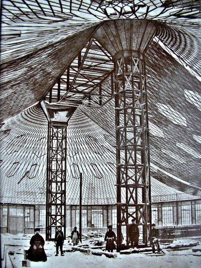 Сетчатое стальное покрытие Овального павильона Шухова
