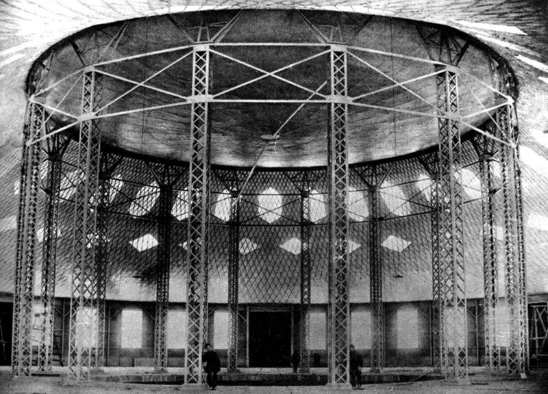 Круглый стальной павильон-ротондо Шухова